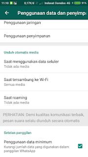 Pengaturan data dan penyimpanan