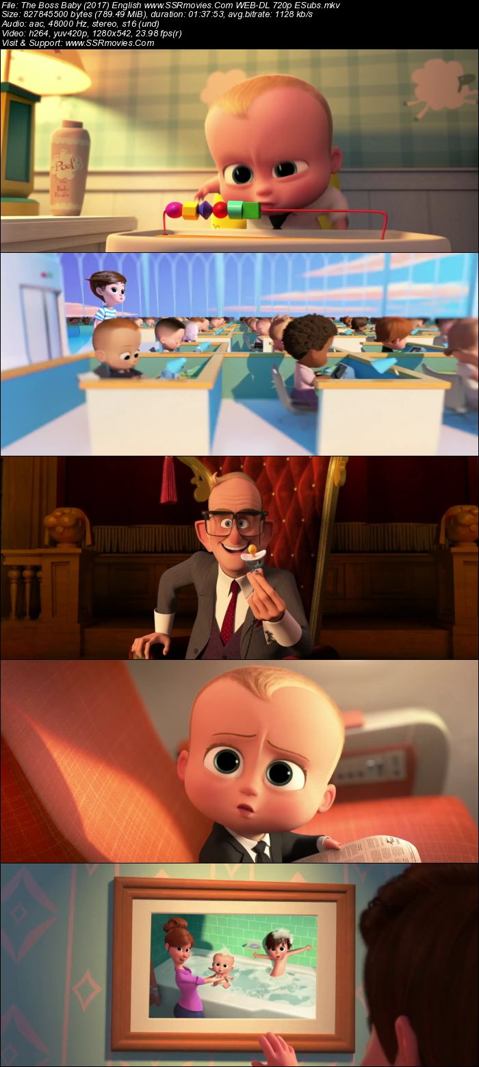 The Boss Baby (2017) English WEB-DL 720p 800MB | SSR Movies