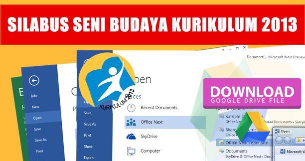 Download Silabus Kurikulum 2013 Revisi Pelajaran Seni Budaya Kelas 1