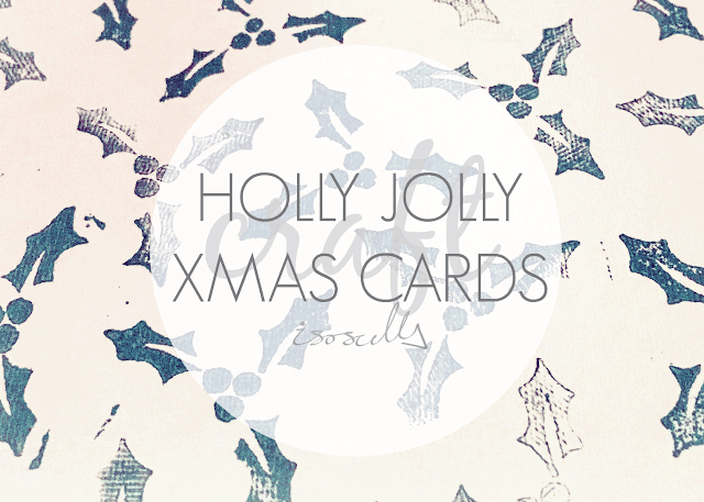Craft Holly Jolly Christmas Cards Header