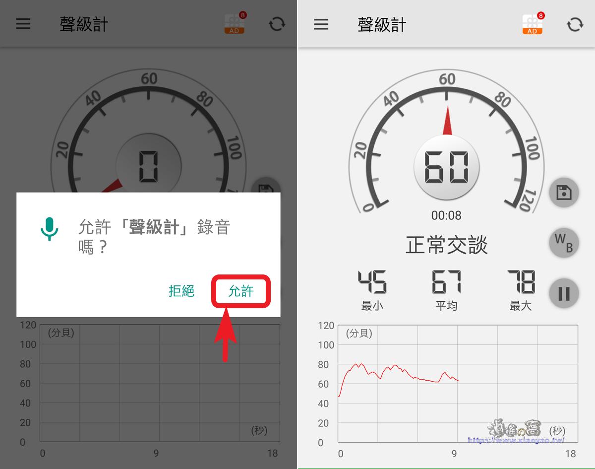 用手機 APP 測量環境噪聲、分貝(dB)大小