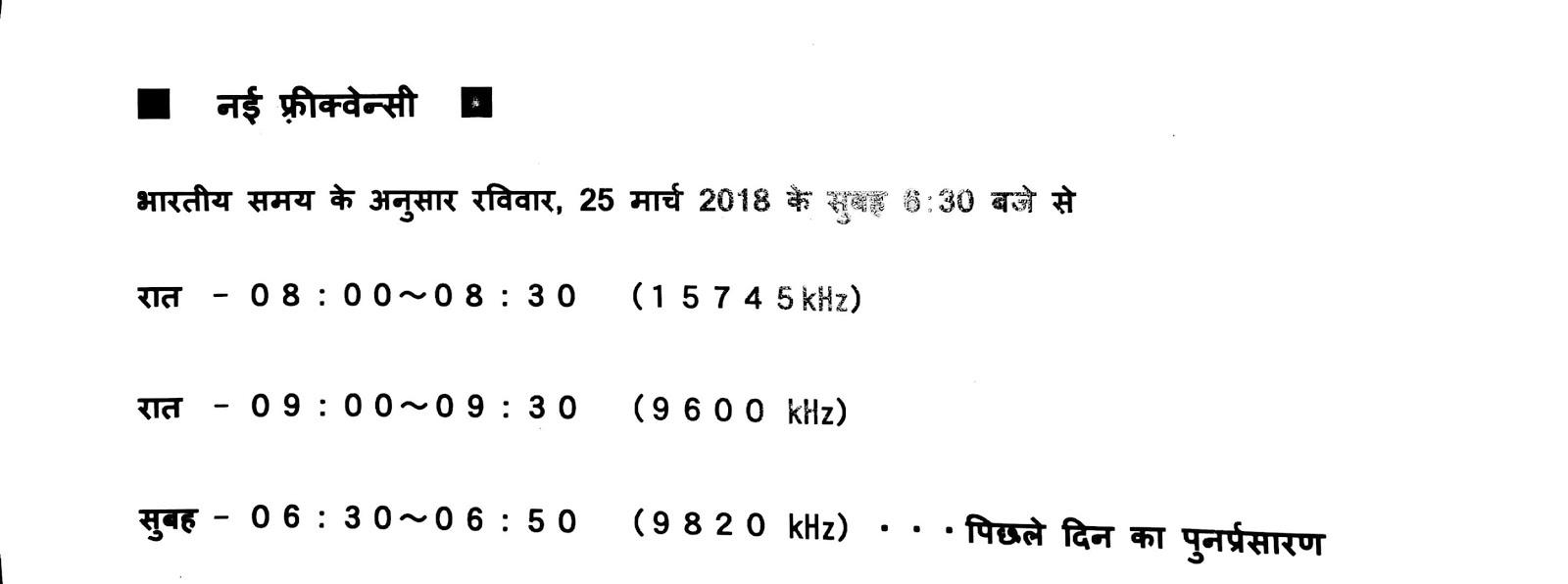 NHK Hindi Schedule