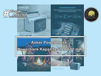 Powerbank Anker Powerhouse Kapasitas 120.600 mAh