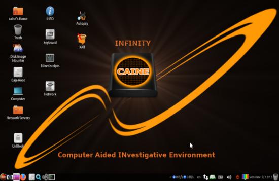 معلومات حول التوزيعة CAINE OS 10
