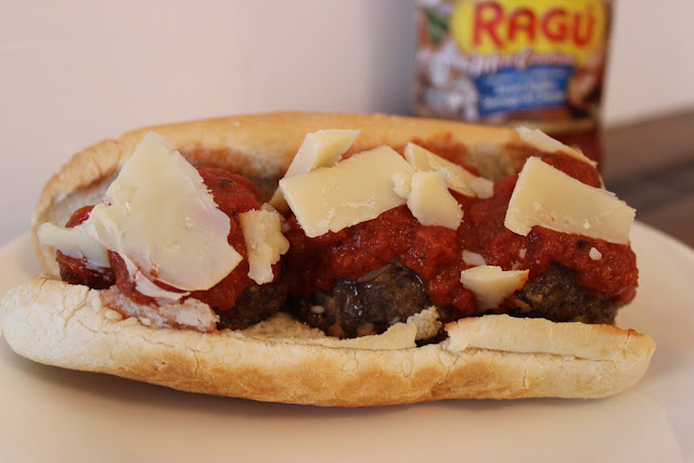 Homemade Ragu Meatball Sandwich
