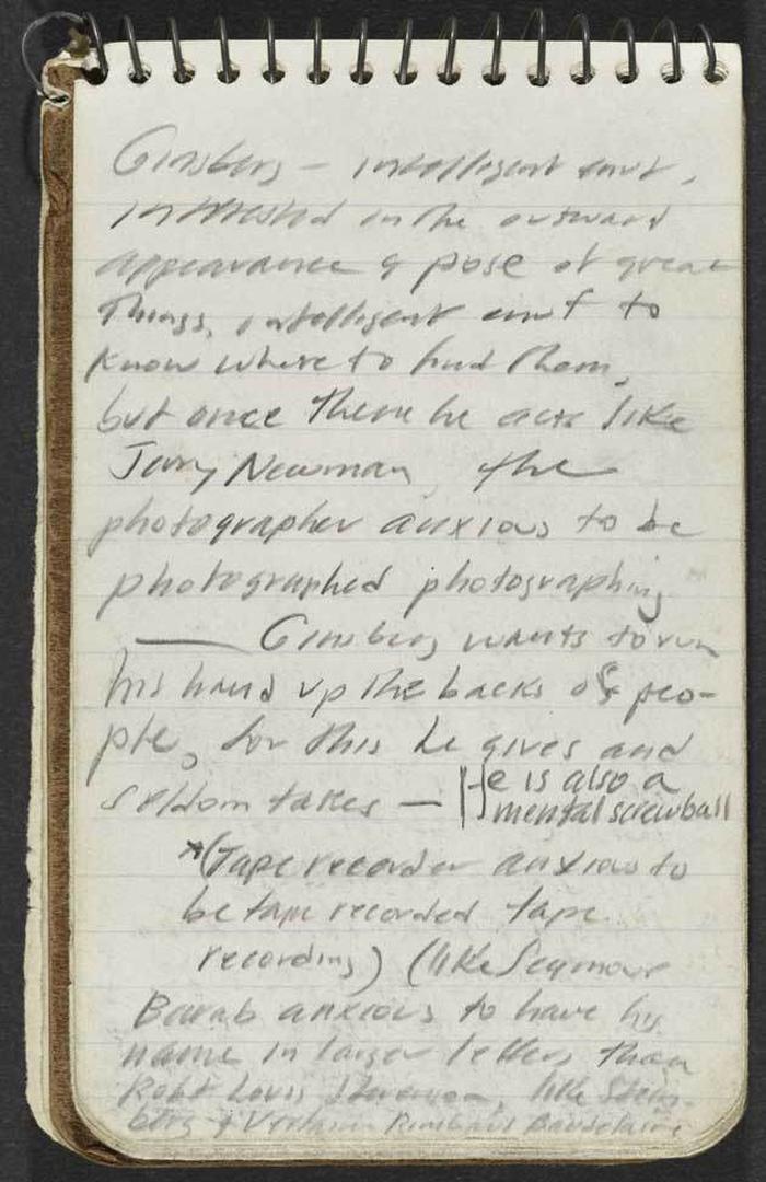 Jack Kerouac, diario, appunti, notes, pensieri, scrittura, pagine