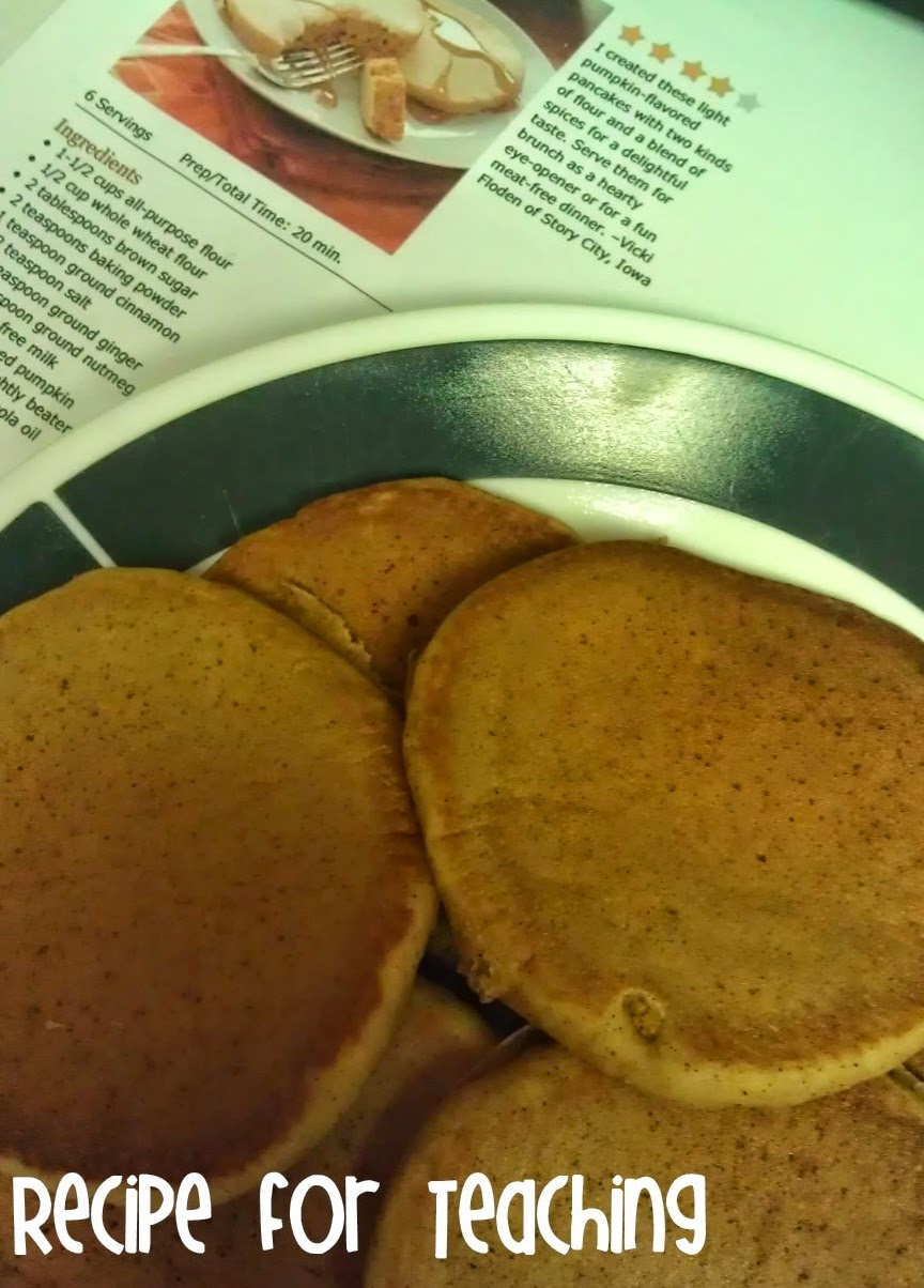 http://www.tasteofhome.com/recipes/pumpkin-flavored-pancakes