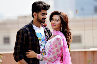 nusrat faria and om in a song