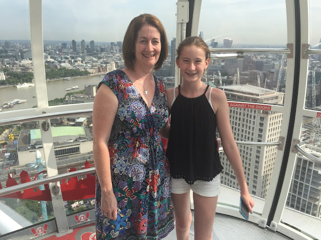 Mum and daughter on London Eye