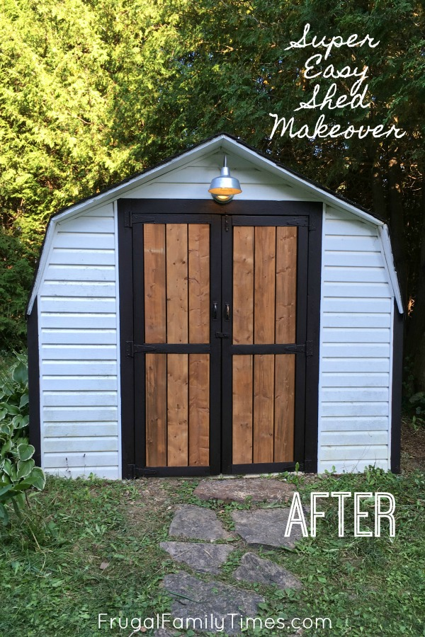 DIY shed makeover
