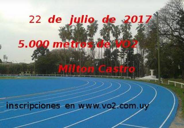Campeonato 5000 mts. Milton Castro de VO2 en pista (Montevideo, 22/jul/2017)