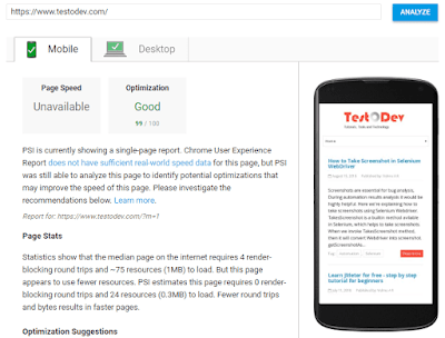 sitespeed-insights-testodev