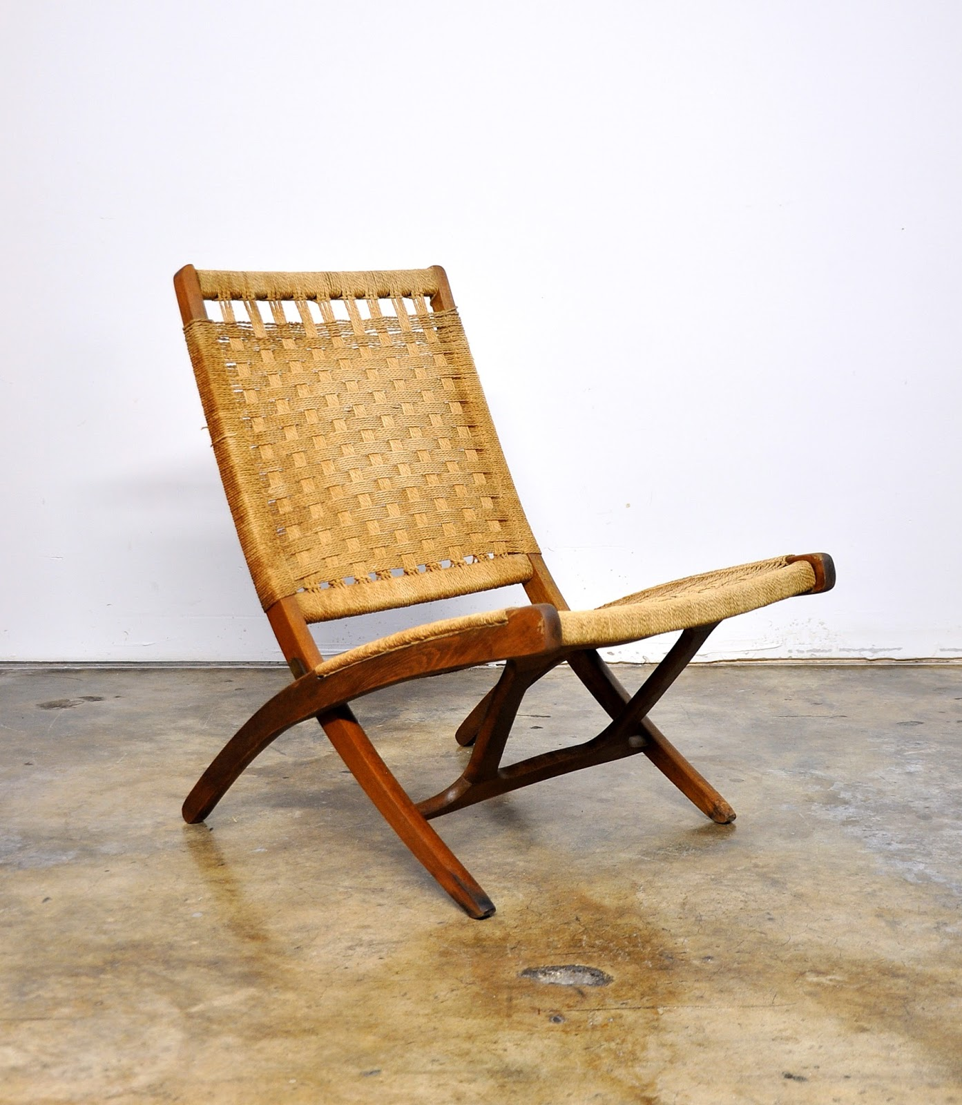 Yugoslavian Folding Chair Shower Or Stool Rope Oxobee