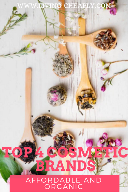 Top 4 Cosmetic Brands affordable and organic