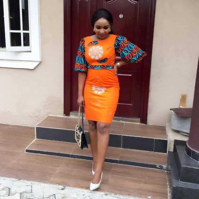 latest ankara plain designs of 2018, beautiful ankara pattern designs of 2018, best ankara patten and plain designs for ladies, plain ankara gown designs, plain ankara peplum top desigs and patterns
