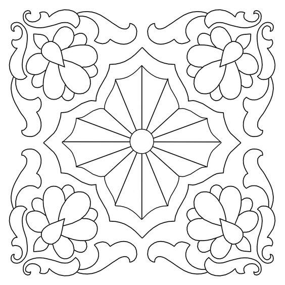 Tranh tô màu trang trí hình vuông lớp 7