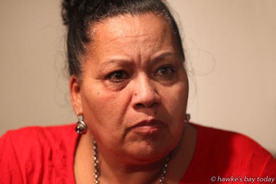 Brenda Wainohu from Flaxmere, Hastings, responds to the Budget in regards to poverty, housing, family support, the environment and tertiary education. photograph