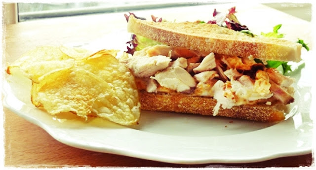 chicken and roasted butternut squash mayonnaise sandwich