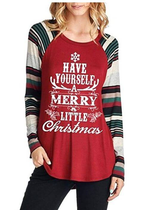women christmas tops shirts