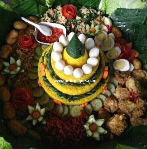 Nasi kuning Tumpeng Netirecipes