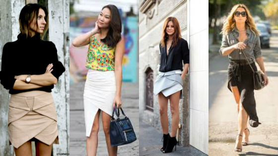 saia assimetrica moda 2017