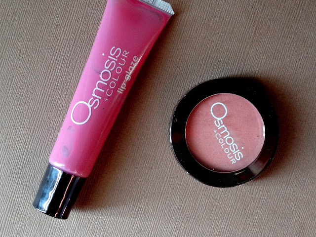 Osmosis Color Blush in Pink Pearl and Lip Glaze in Flirt