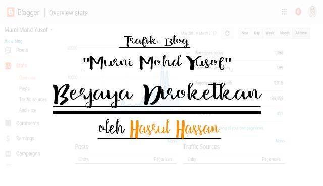 """Trafik Blog """"Murni Mohd Yusof"""" Berjaya Diroketkan oleh Hasrul Hassan"""