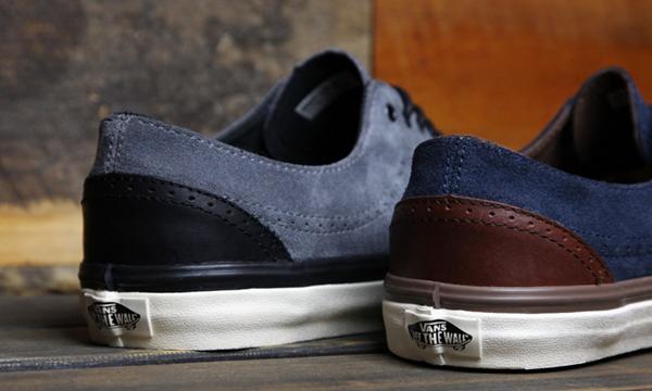 f57b2872f5 Essa linha da Vans é inspirada no modelo Brogue de sapatos (derivado do  famoso Oxford
