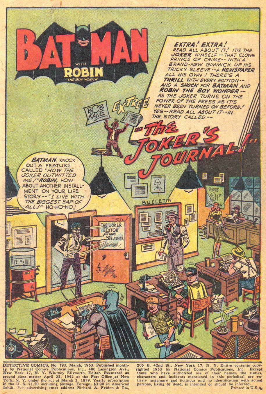 Detective Comics (1937) 193 Page 2