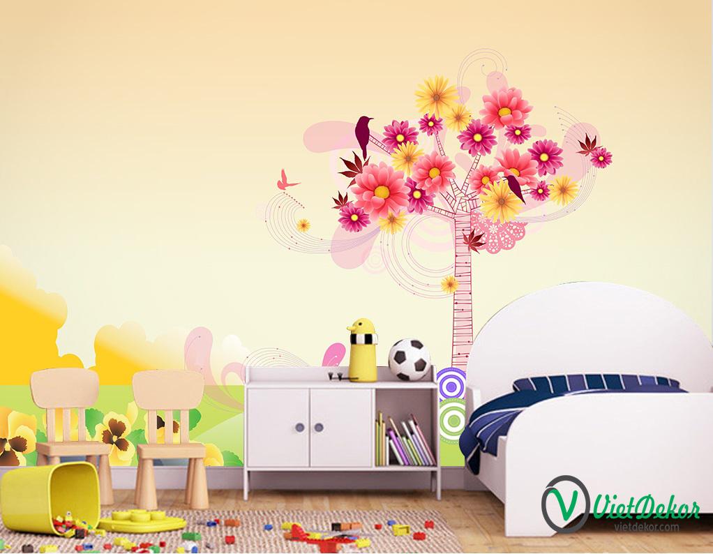 Tranh dán tường 3d trang trí phòng ngủ cho bé yêu