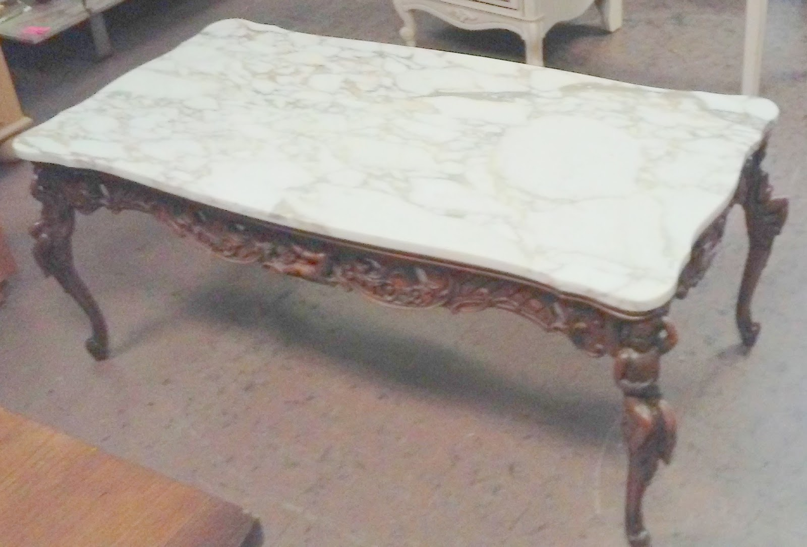 Uhuru Furniture Collectibles Sold Art Nouveau Marble Top Coffee Table 125