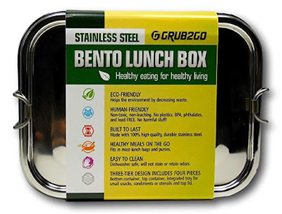PLASTIC FREE STAINLESS STEEL LUNCH CONTAINER
