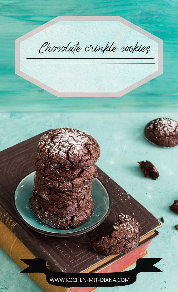 Dani's chocolate crinkle cookies