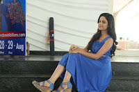Divya Nandini stunning Beauty in blue Dress at Trendz Exhibition Launch ~  Celebrities Galleries 028.JPG