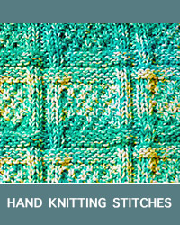 Learn Woven Lattice Knit Purl Pattern with our easy to follow instructions at HandKnittingStitches.com