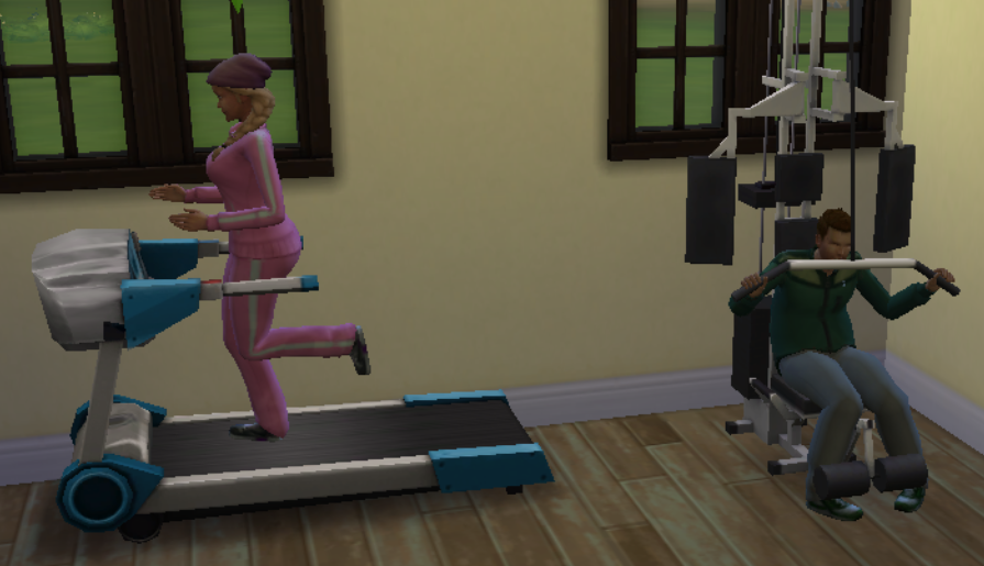 Sims 4 fitness skill guide it is also entertaining for storytelling purposes as you can make your sim lose weight or put on muscle using the right pieces of equipment ccuart Choice Image