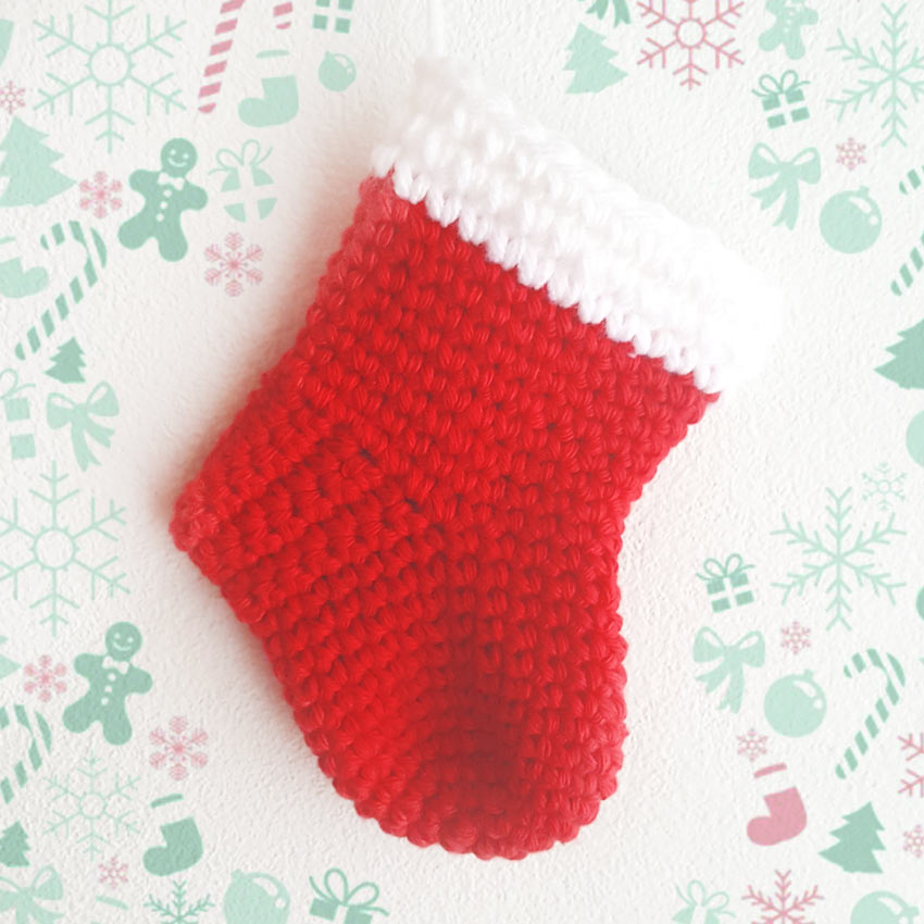 botita navideña crochet
