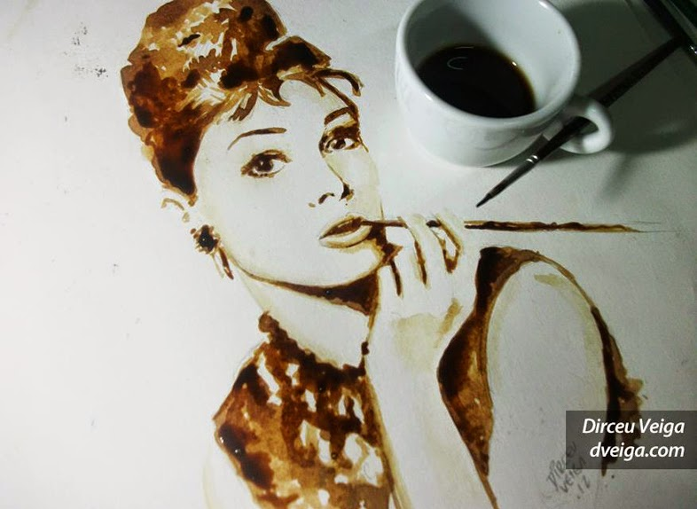 12-Audrey-Hepburn-Dirceu-Veiga-Coffee-Good-for-Drinking-and-Good-for-Painting