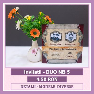 http://www.bebestudio11.com/2018/04/invitatii-nunta-si-botez-duo-nb-5.html