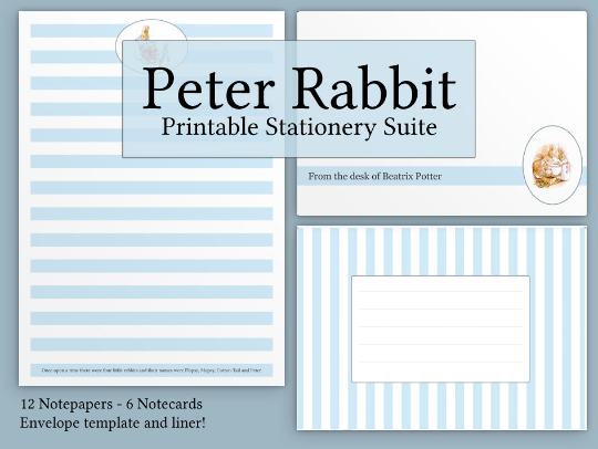 graphic about Printable Sationary known as Totally free Peter Rabbit Printable Stationery - An Easter Address