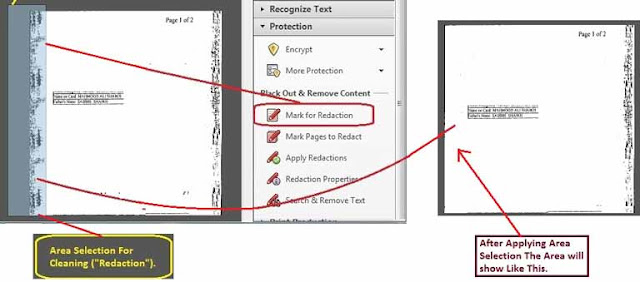 Area select for Clean PDF page
