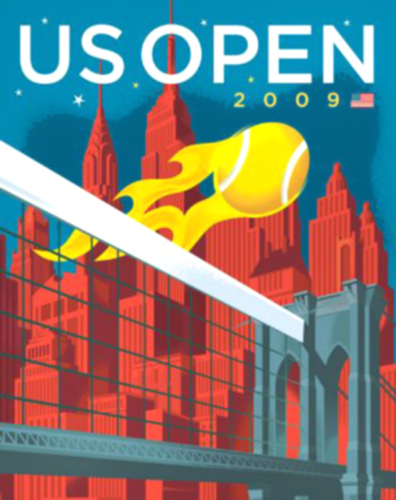 graphic design sports posters US Open
