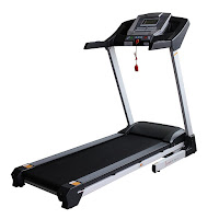 Sunny Health & Fitness SF-T7515 Smart Treadmill, with Bluetooth connectivity, BMI calculator, 1-8 mph speed range, auto incline from 0-12%, 12 programs, Shock Absorption system