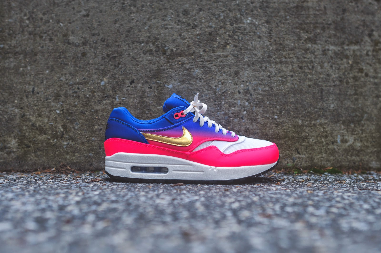 finest selection 8f83b 9e1f7 Nike Women s Air Max 1 Premium QS Mercurial - Ivory   Hyper Punch   Game  Royal
