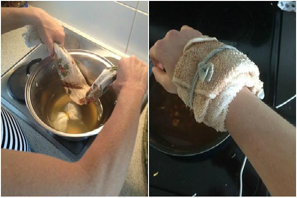 El jengibre compresas de agua contra el reumatismo y la artritis