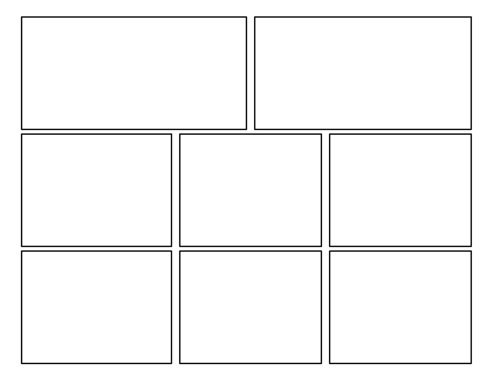 3rd grade: Second Batch of Comic Templates