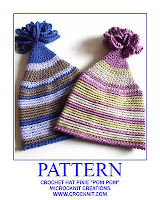 crochet patterns, how to crochet, baby hats, pixie, elf, pom pom hats, newborn,