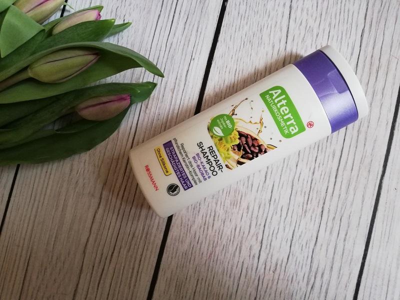Alterra szampon naprawczy Kakao Bio i Baobab Bio