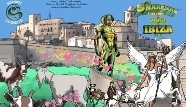 Snakeman superheroe Ibiza