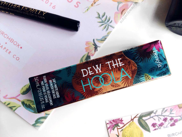 April Birchbox Benefit Cosmetics Dew The Hoola Sample Size